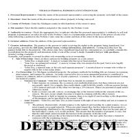Branch County Personal Representative Deed Guide Page 1