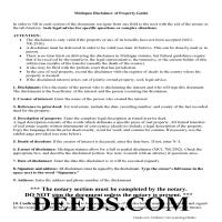 Washtenaw County Disclaimer of Interest Guide Page 1