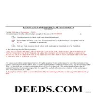 Benton County Completed Example of the Receipt and Waiver of Mechanic Lien Document Page 1
