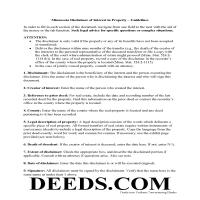Meeker County Disclaimer of Interest Guide Page 1