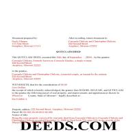 Bollinger County Completed Example of the Quit Claim Deed Document Page 1