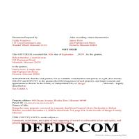 Mercer County Completed Example of the Gift Deed Document Page 1