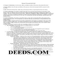 Chariton County Warranty Deed Guide Page 1