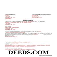 Chariton County Completed Example of the Warranty Deed Document Page 1