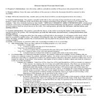 Oregon County Special Warranty Deed Guide Page 1