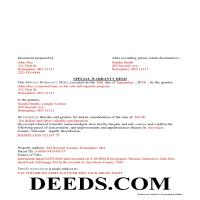 Oregon County Completed Example of the Special Warranty Deed Document Page 1