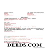 Dade County Completed Example of the Grant Deed Document Page 1