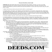 Chariton County Beneficiary Deed Guide Page 1