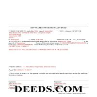 Chariton County Completed Example of the Revocation of Beneficiary Deed Document Page 1
