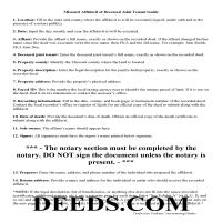 Oregon County Affidavit of Deceased Joint Tenant Guide Page 1