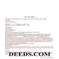 Montgomery County Completed Example of the Trustee Deed Document Page 1