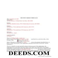 Moniteau County Completed Example of the Trustee Deed Document Page 1