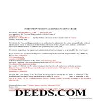 Douglas County Completed Example of the Personal Representative Deed Document Page 1