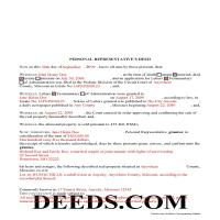 Howard County Completed Example of the Personal Representative Deed of Sale Document Page 1