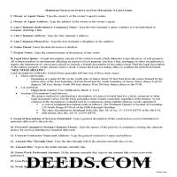 Carroll County Notice of Intent Guide Page 1