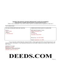 Carroll County Completed Example of Notice of Intent Document Page 1
