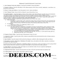 Carter County Claim of Lien Guide Page 1