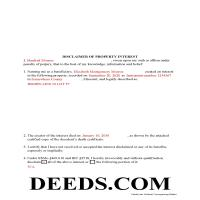 New Madrid County Completed Example of the Disclaimer of Interest Document Page 1