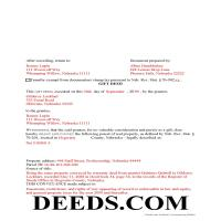 Thomas County Completed Example of the Gift Deed Document Page 1