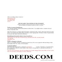 Grant County Completed Example of the Transfer on Death Deed Document Page 1