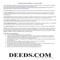 Grant County Affidavit of Death Guide Page 1