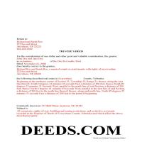 Grant County Completed Example of the Trustee Deed Document Page 1