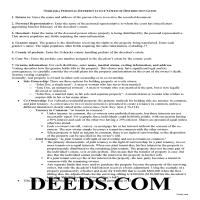 Grant County Personal Representative Deed of Distribution Guide Page 1