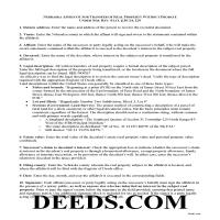 Grant County Affidavit for Transfer of Real Property without Probate Guide Page 1