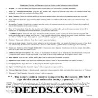 Grant County Notice of Termination Guide Page 1