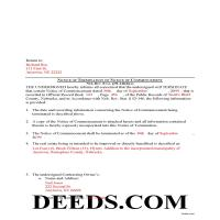 Grant County Completed Example of the Notice of Termination Document Page 1