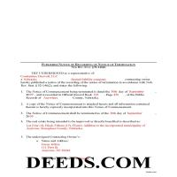 Grant County Completed Example of the Published Notice of Termination Document Page 1