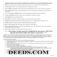 Grant County Notice of Termination Affidavit Guide Page 1