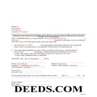 Grant County Completed Example of the Notice of Termination Affidavit Document Page 1