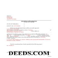 Grant County Completed Example of the Construction Lien Amendment Document Page 1