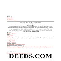 Grant County Completed Example of the Partial Unconditional Lien Waiver Document Page 1