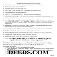 Grant County Final Conditional Lien Waiver Guide Page 1