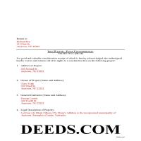 Grant County Completed Example of the Final Unconditional Lien Waiver Document Page 1