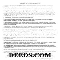 Grant County Certificate of Trust Guide Page 1