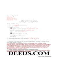 Grant County Completed Example of the Certificate of Trust Document Page 1