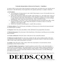 Grant County Disclaimer of Interest Guide Page 1