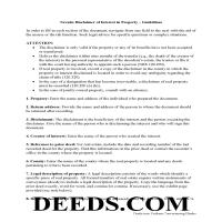 Douglas County Disclaimer of Interest Guide Page 1