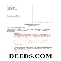 Washoe County Completed Example of the Notice of Completion Document Page 1