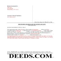 Elko County Completed Example of the Discharge of Lien Document Page 1
