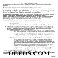 Morton County Warranty Deed Guide Page 1
