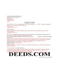 Wells County Completed Example of the Warranty Deed Document Page 1