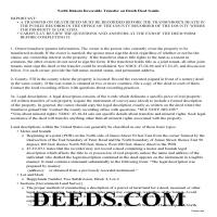Bottineau County Transfer on Death Deed Guide Page 1