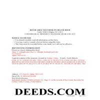 Barnes County Completed Example of the Transfer on Death Deed Document Page 1