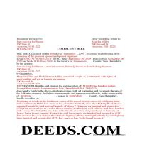 Merrimack County Completed Example of the Correction Deed Document Page 1