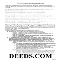 Middlesex County Personal Representative Deed Guide Page 1