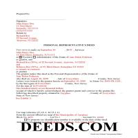 Cumberland County Completed Example of the Personal Representative Deed Document Page 1